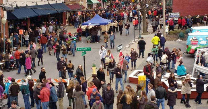 a large crowd of people at chowderfest