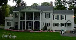 Back of the Pruyn Pettee House in Saratoga Springs NY