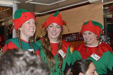 three of Santa's helpers