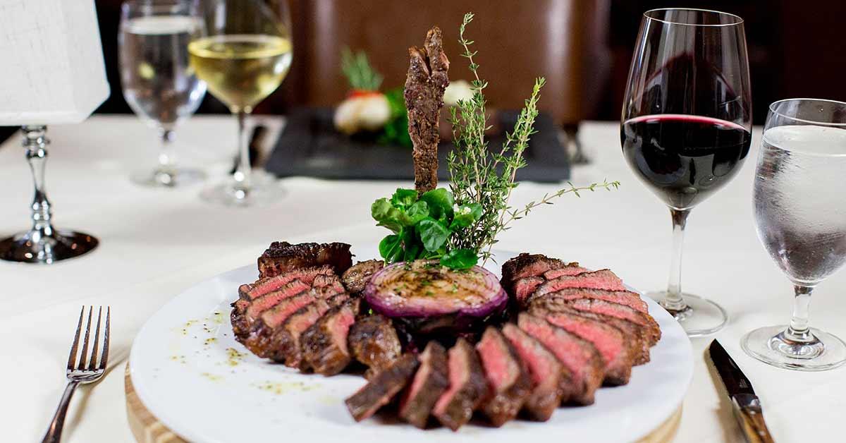 steak dinner on plate
