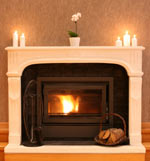 fireplace candles mantle
