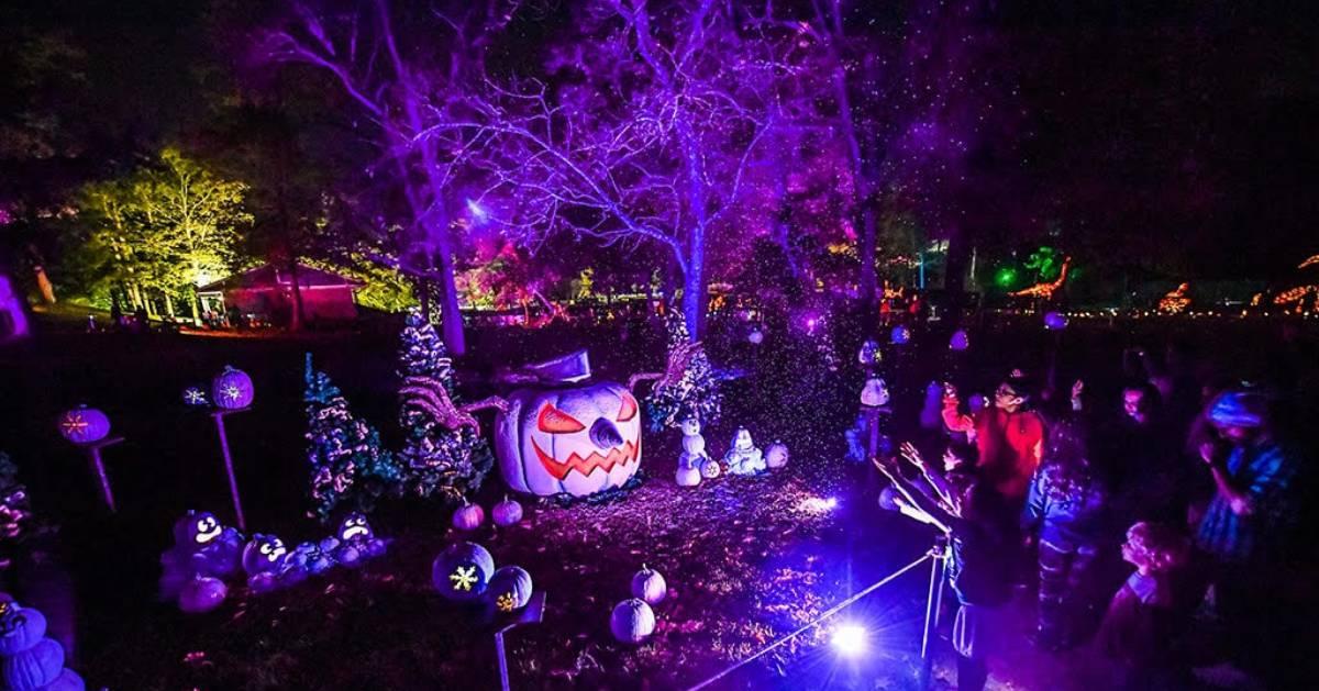 purple evil pumpkin attraction