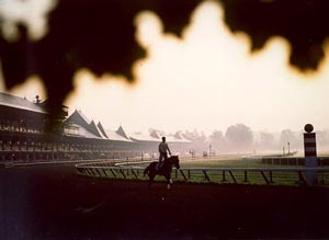 Early Morning Ride at Saratoga Race Course