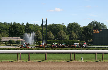 Horse Racing At Saratoga Race Course