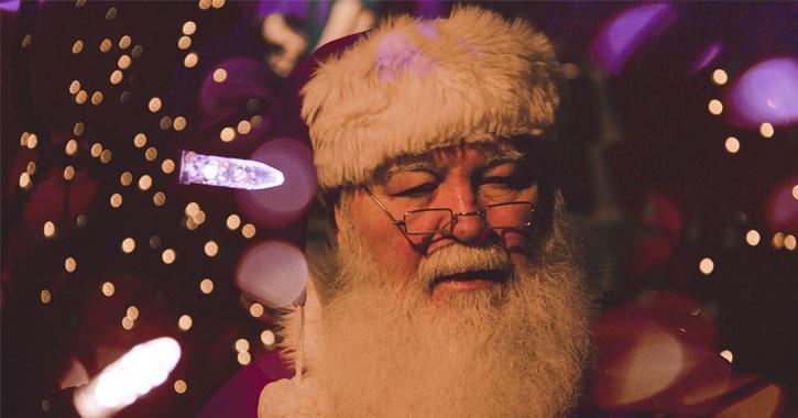 a Santa with a real beard