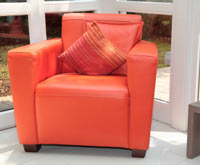 bright orange chair furniture