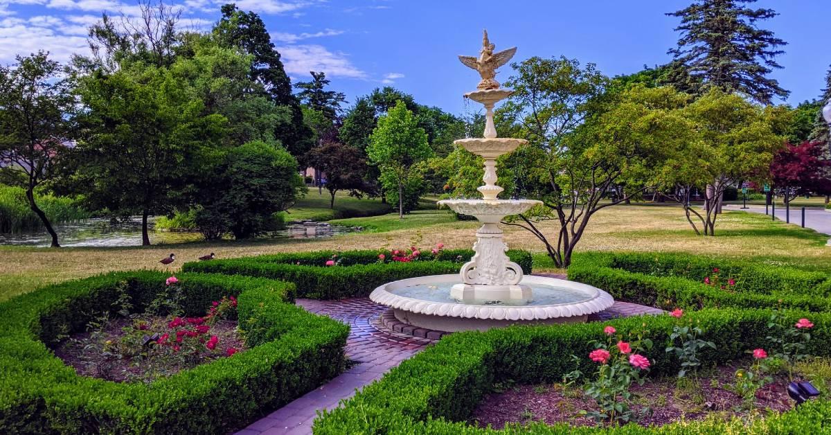 ornate fountain in a park