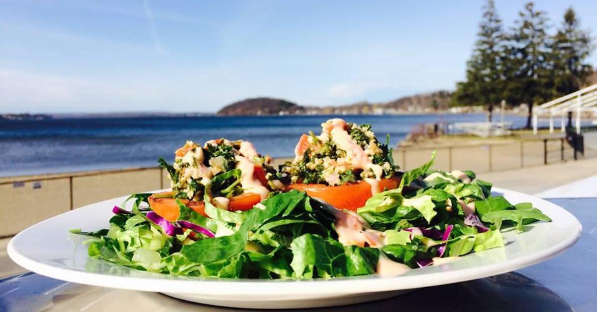 salad by lake