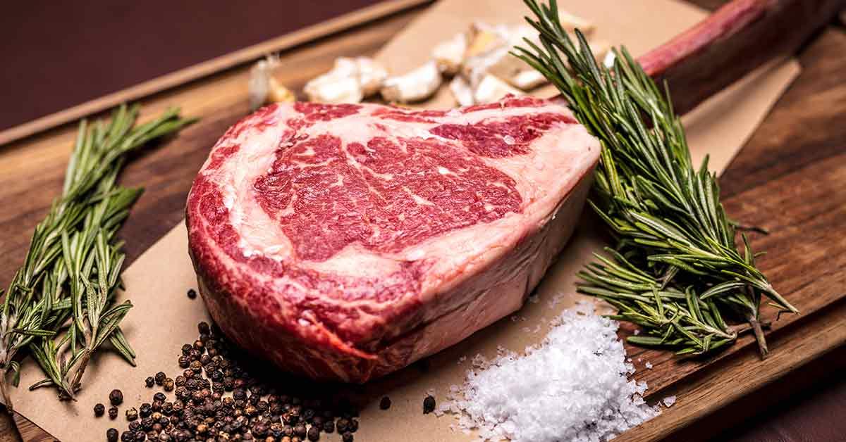 steak on cutting board