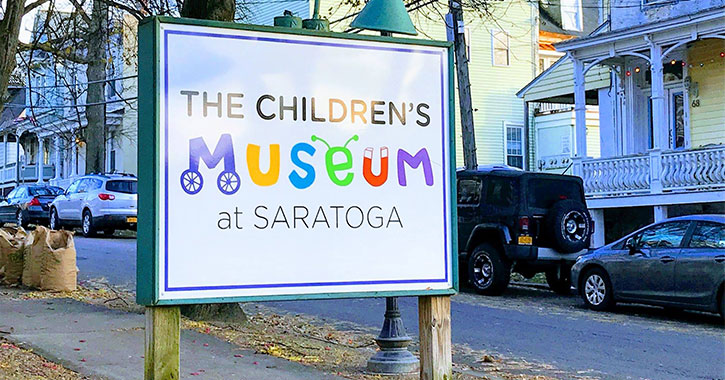 children's museum at saratoga outdoor sign