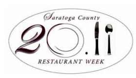 2011 saratoga county restaurant week logo