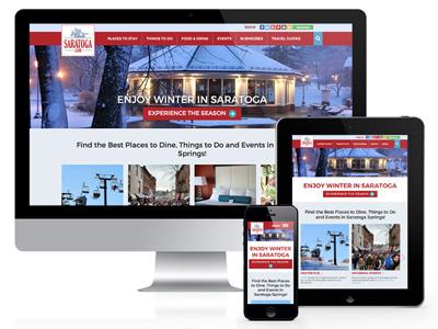 saratoga.com on desktop, tablet, and mobile