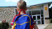 Boy Entering School