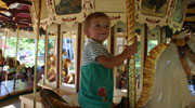 child on saratoga springs carousel