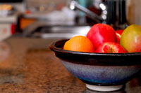 fruit on kitchen counter