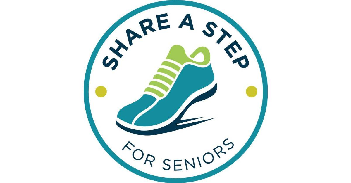 logo for share a step for seniors