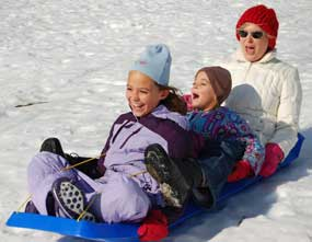 Saratoga NY sledding hill