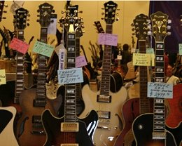 Guitars at the Capital Region Guitar Show