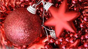 red holiday ornaments