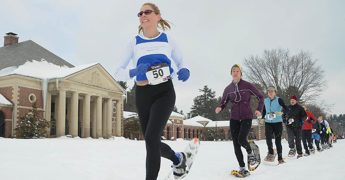 snowshoe race in saratoga spa state park