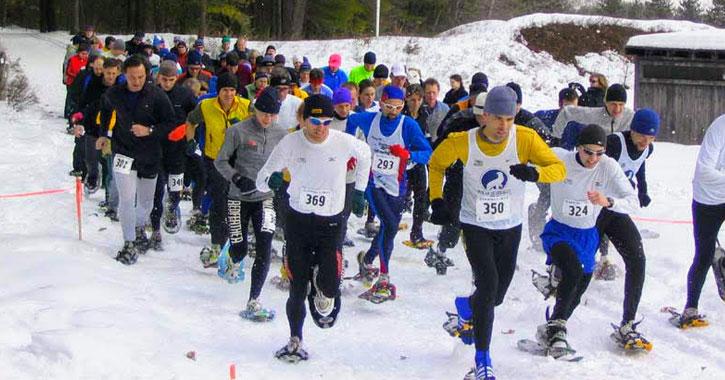 a snowshoe race
