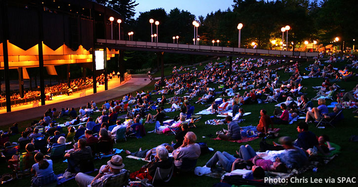 Saratoga Performing Arts Center Spac Amphitheater In