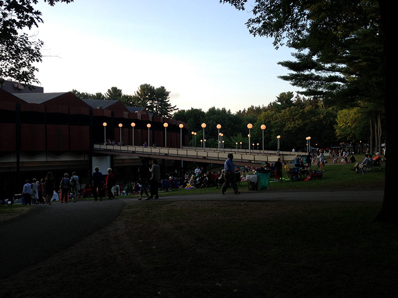spac lawn at night time