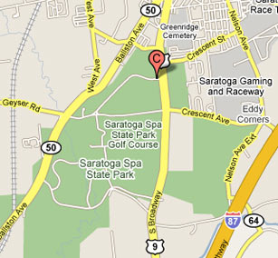 Google Map of Saratoga Performing Arts Center