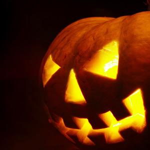 scary jack-o-lantern face