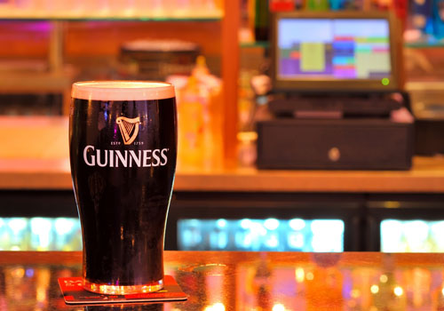 guinness on a table