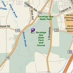Saratoga Spa State Park map