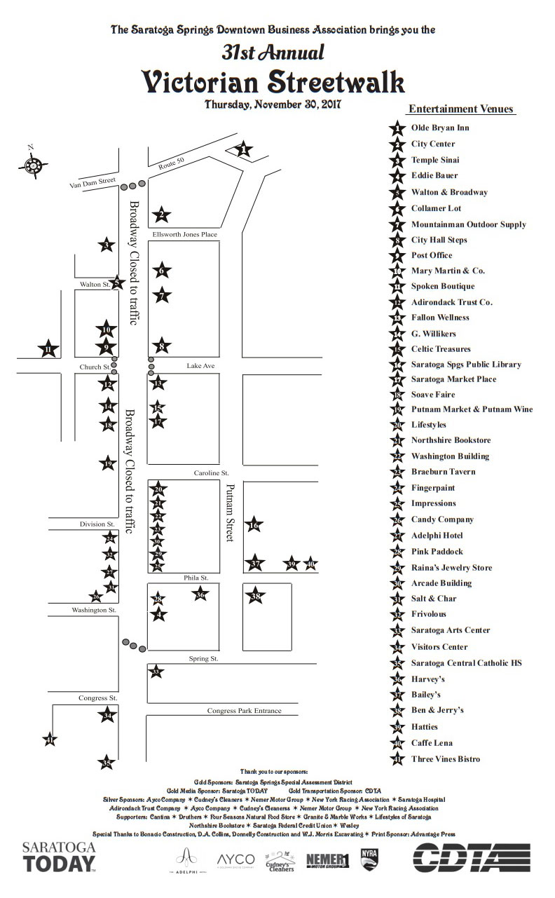 map of the victorian streetwalk 2017