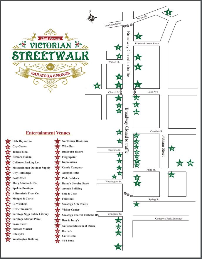 map of the victorian streetwalk 2018