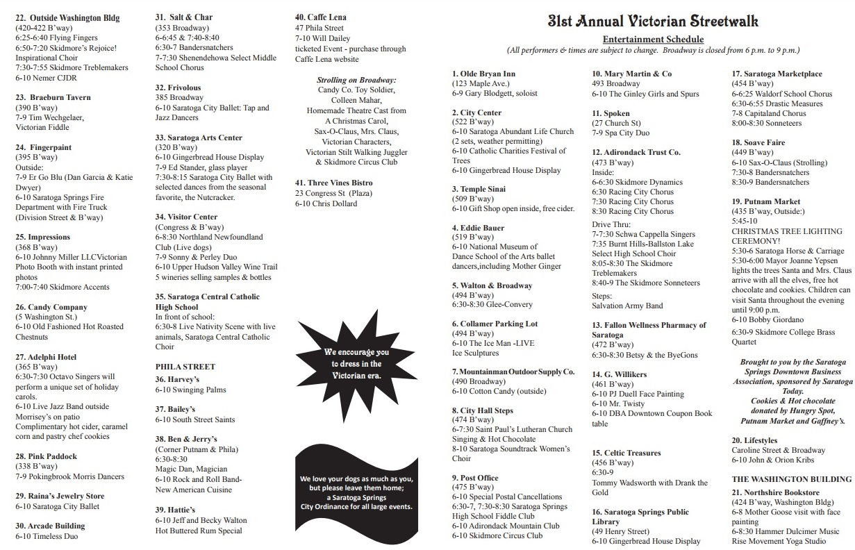 streetwalk schedule 2017
