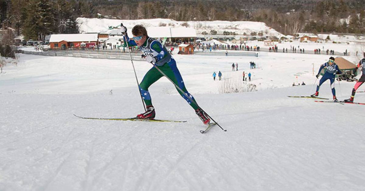 cross country ski racers