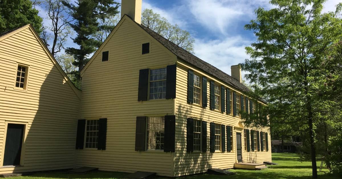 yellow historic cottage