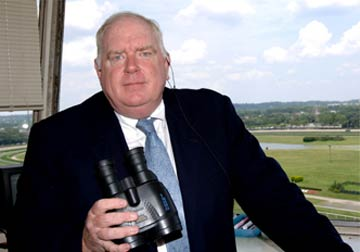 Saratoga Race Track Announcer Tom Durkin