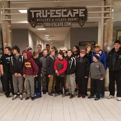 group standing in front of Tru-Escape