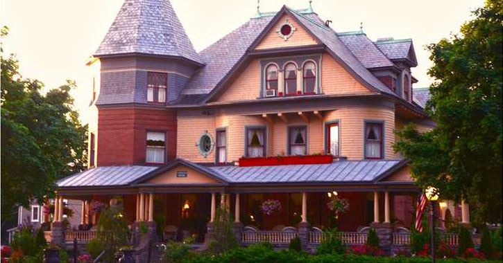 a Victorian-style bed and breakfast