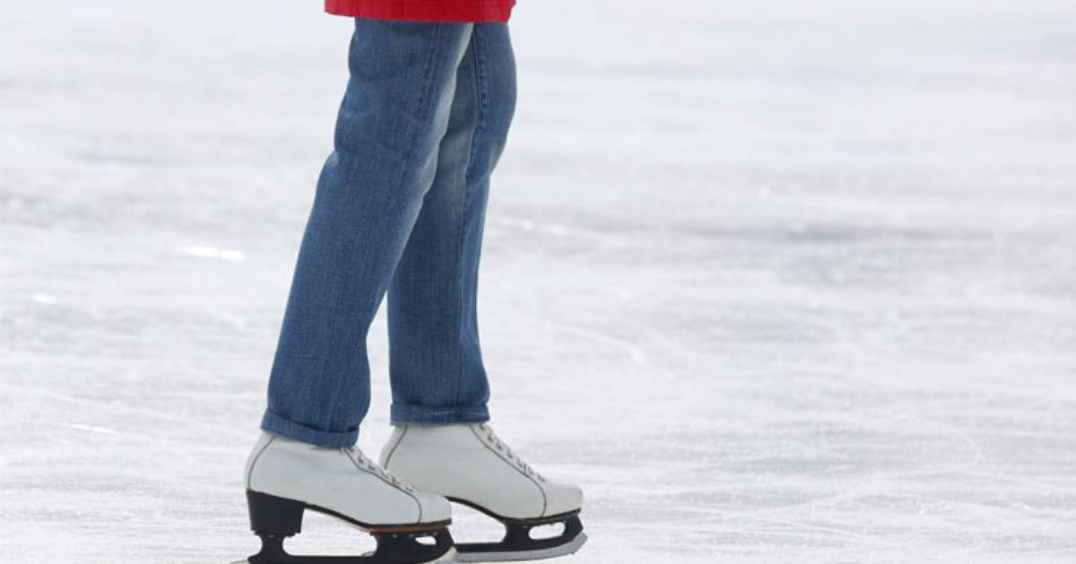 one person ice skating