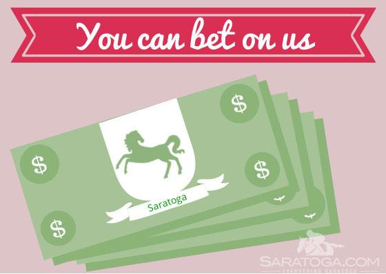 Saratoga Valentine's Cards: Bet On Us