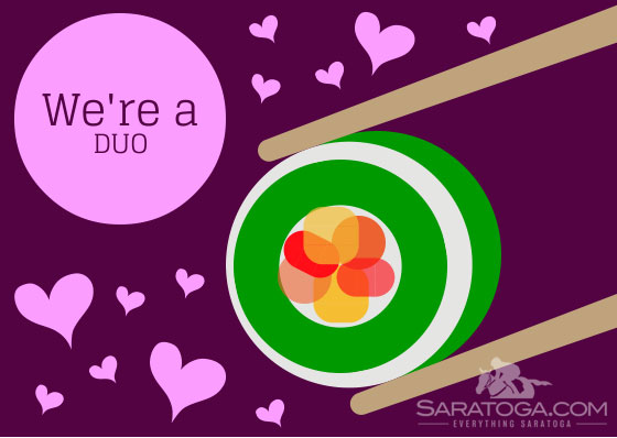 Saratoga Valentine's Cards: We're A Duo