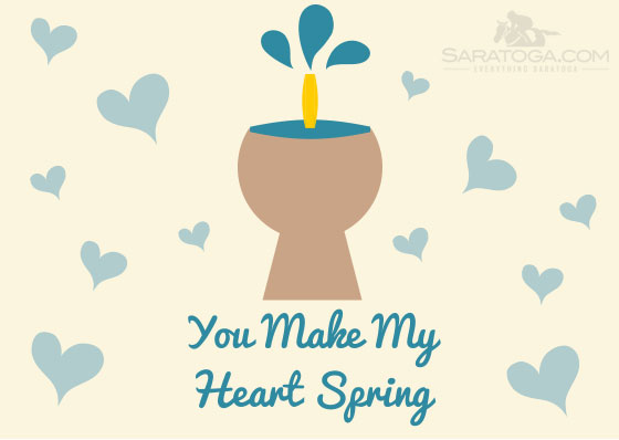Saratoga Valentine's Cards: You Make My Heart Spring