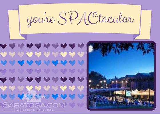 Saratoga Valentine's Cards: You're SPACtacular