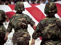 veterans marchning