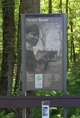 victory woods sign