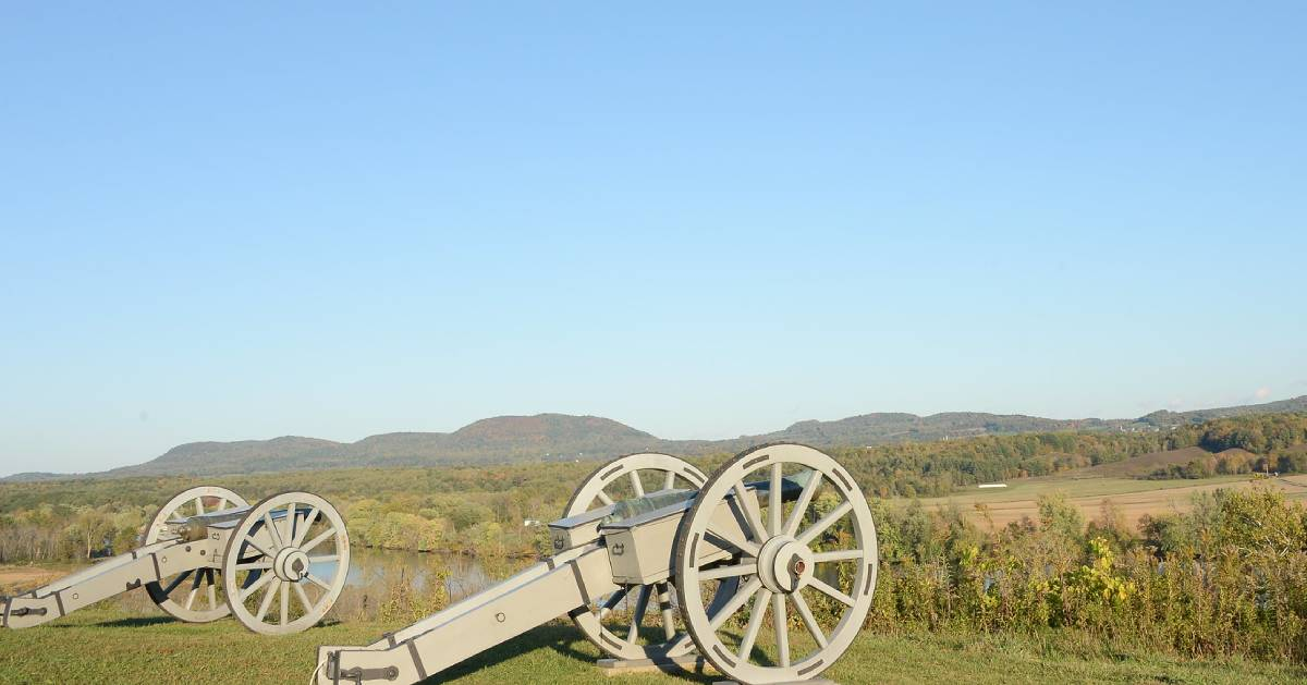 cannons on a field