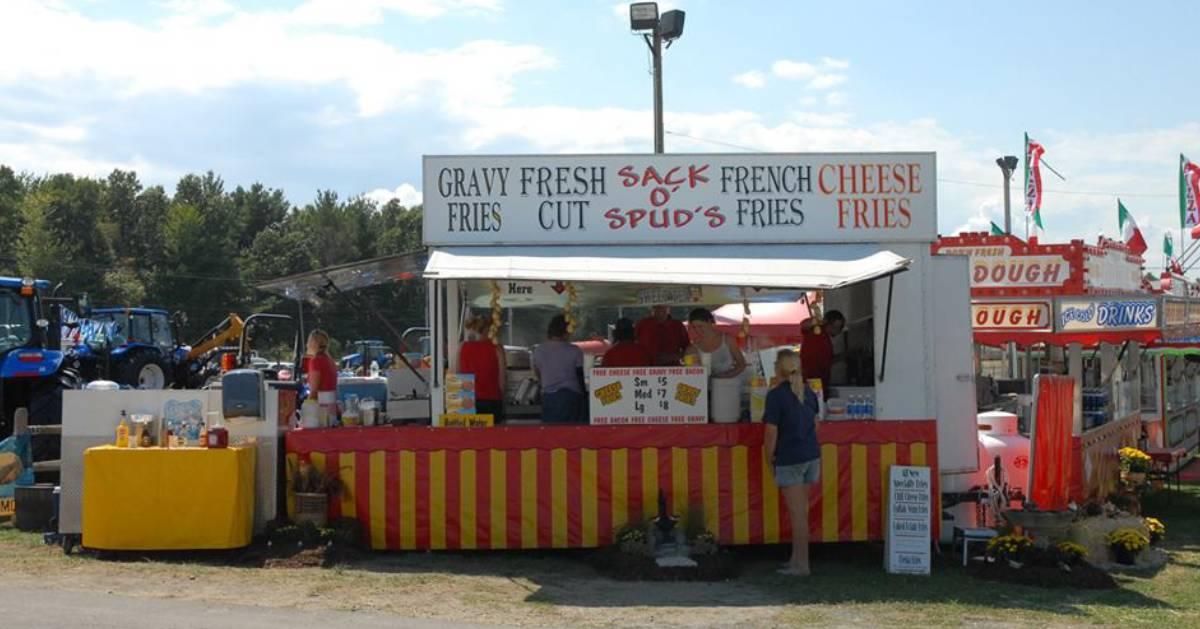 a fair food stand