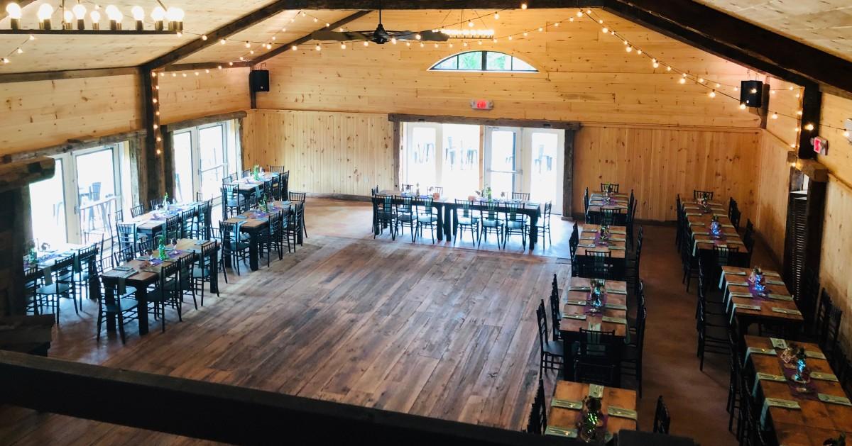 rustic wedding venue room