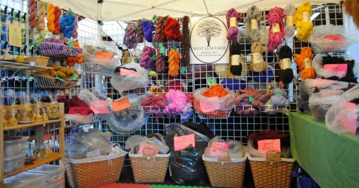fiber products on display
